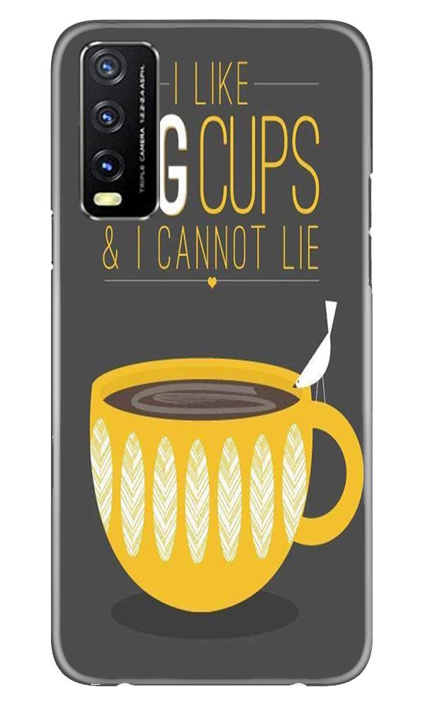 Big Cups Coffee Mobile Back Case for Vivo Y20G (Design - 352)