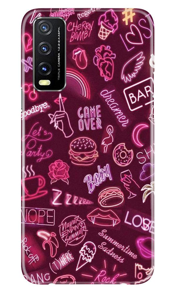 Party Theme Mobile Back Case for Vivo Y20G (Design - 392)