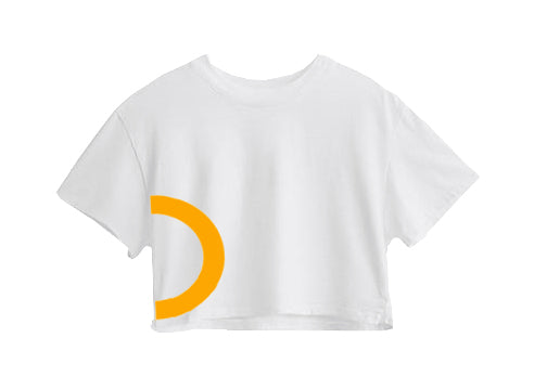 YELLOW CIRCLE CROP TOP