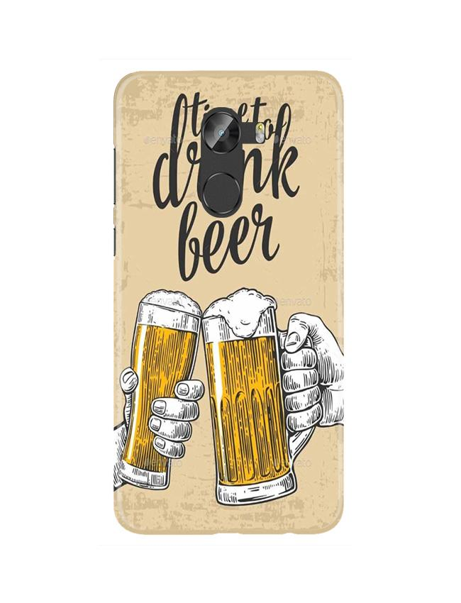 Drink Beer Mobile Back Case for Gionee X1 / X1s (Design - 328)