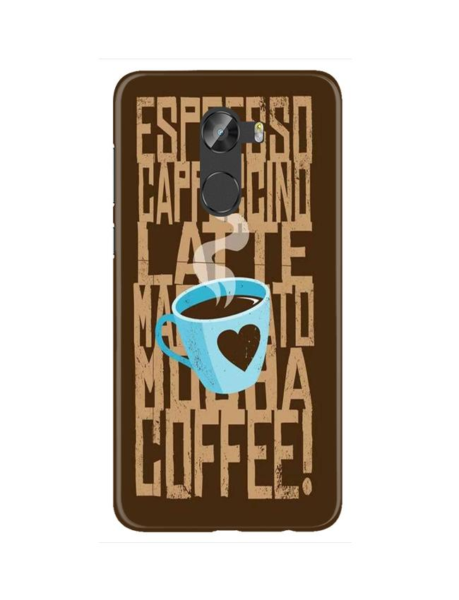 Love Coffee Mobile Back Case for Gionee X1 / X1s (Design - 351)