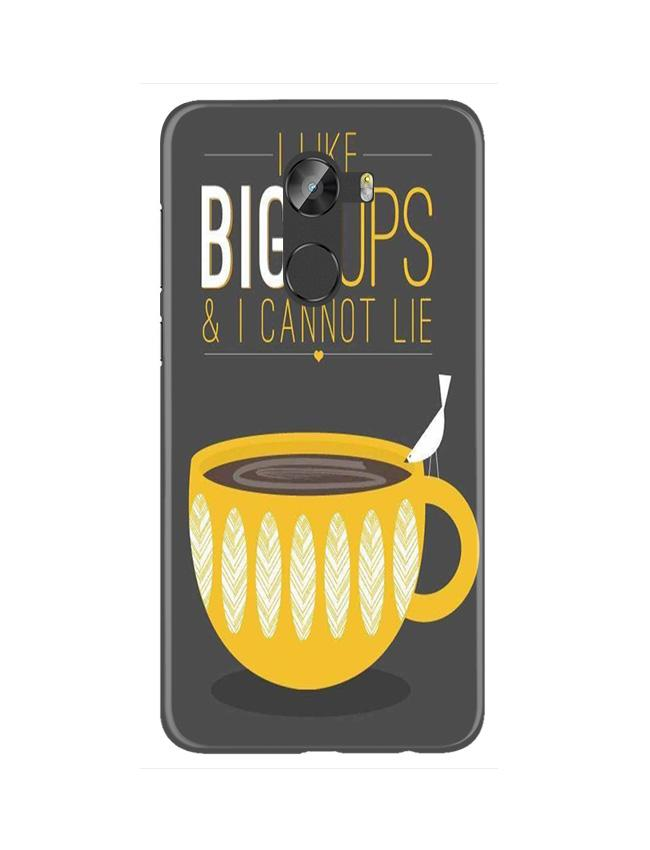 Big Cups Coffee Mobile Back Case for Gionee X1 / X1s (Design - 352)