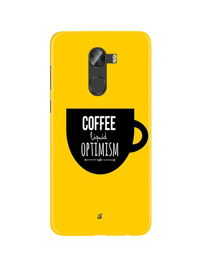 Coffee Optimism Mobile Back Case for Gionee X1 / X1s (Design - 353)