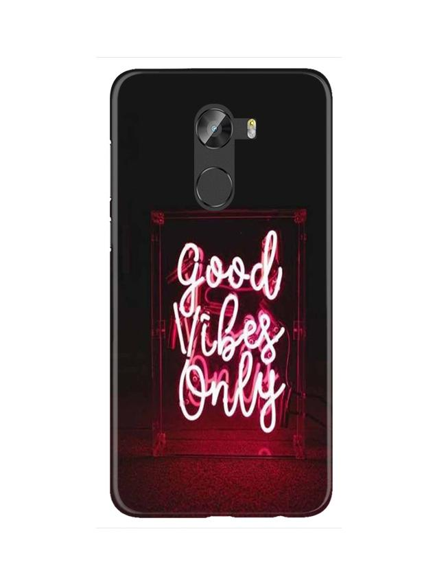 Good Vibes Only Mobile Back Case for Gionee X1 / X1s (Design - 354)