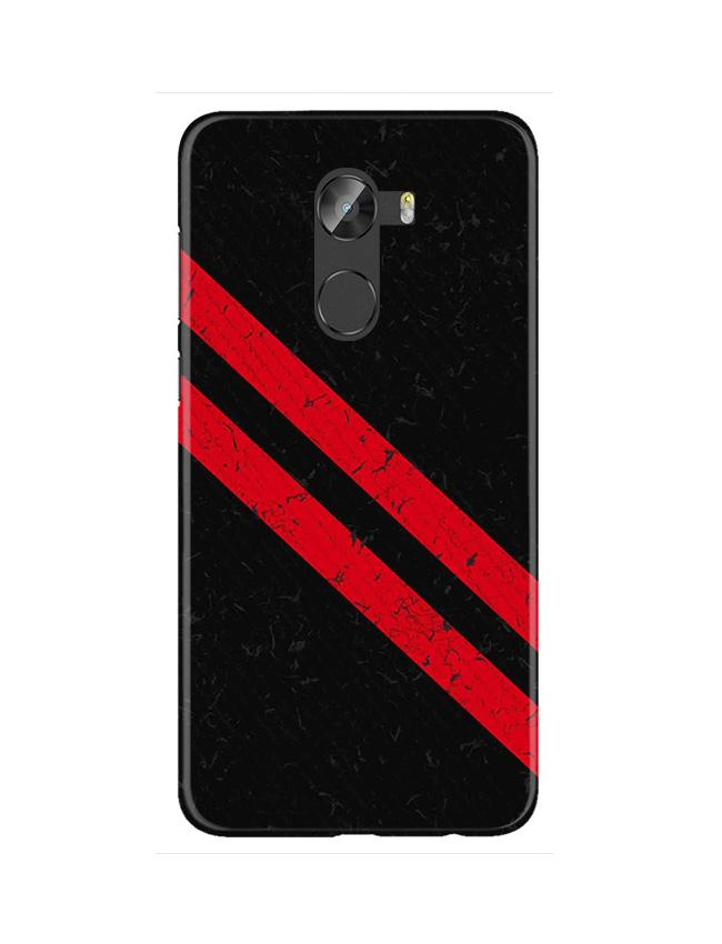 Black Red Pattern Mobile Back Case for Gionee X1 / X1s (Design - 373)