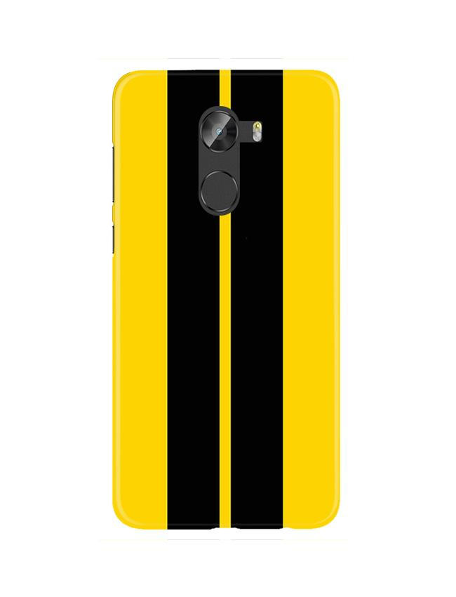 Black Yellow Pattern Mobile Back Case for Gionee X1 / X1s (Design - 377)