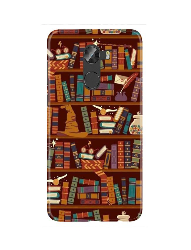 Book Shelf Mobile Back Case for Gionee X1 / X1s (Design - 390)