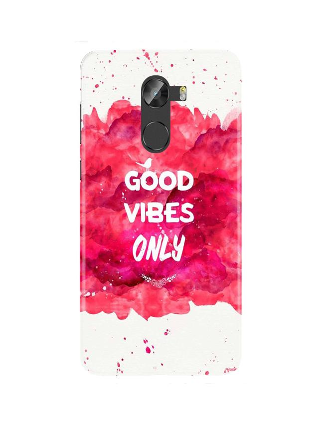 Good Vibes Only Mobile Back Case for Gionee X1 / X1s (Design - 393)