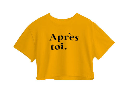 Apres Toi Crop Top