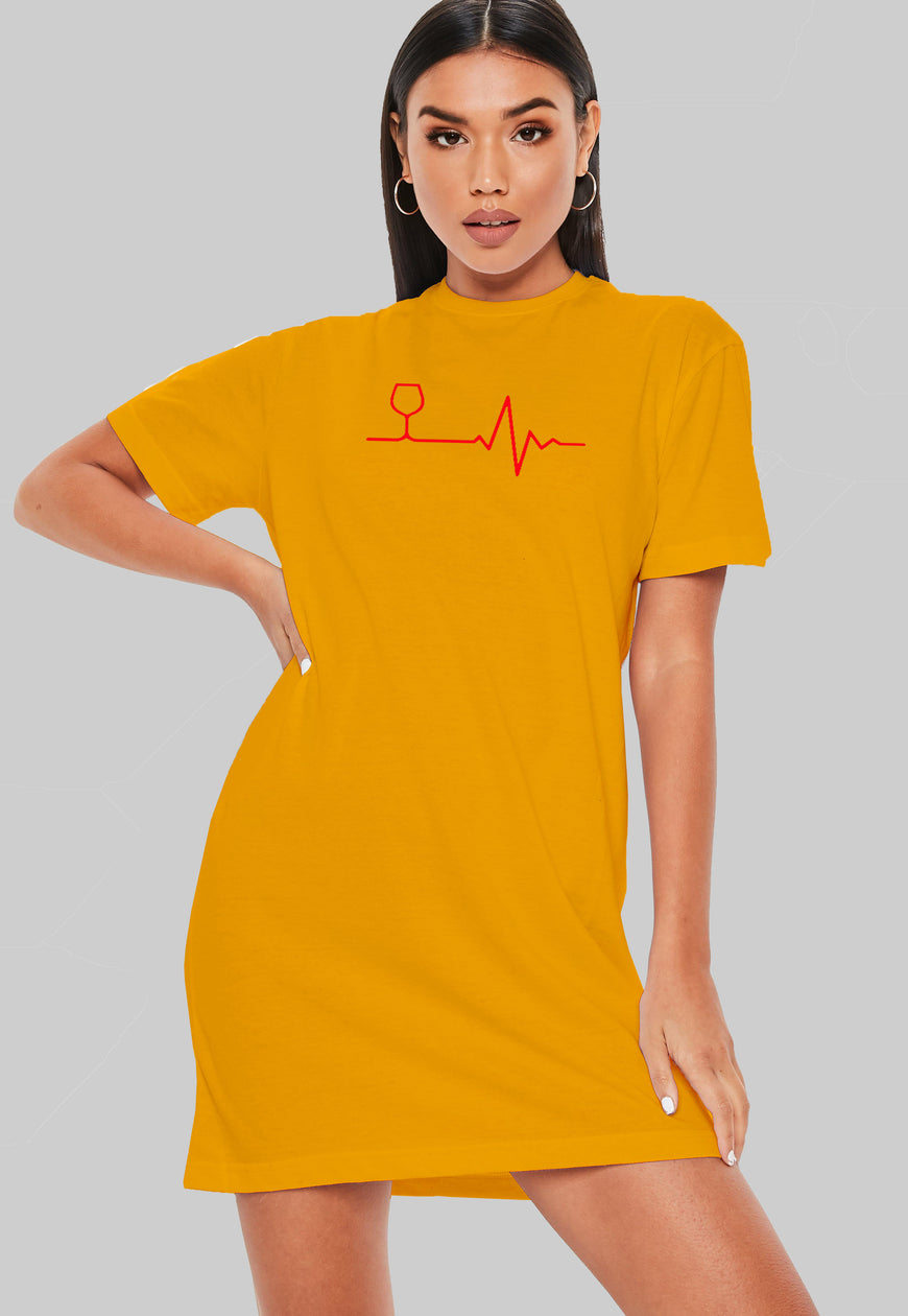 Red Line T-Shirt Dress