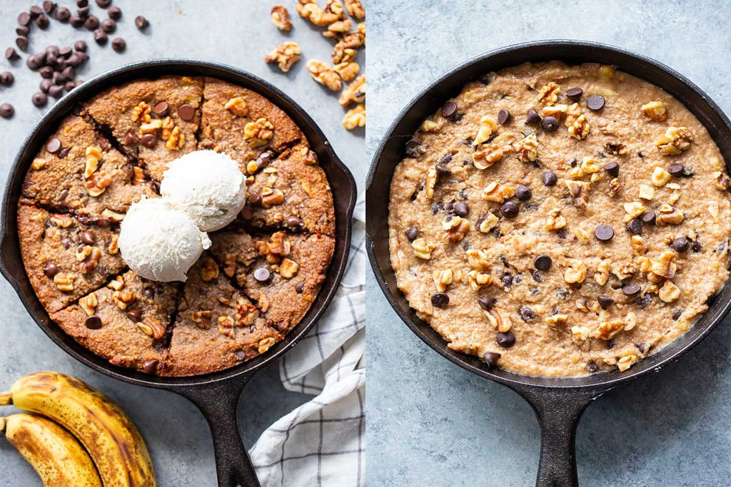 Giant Banana Chocolate Chip Cookie