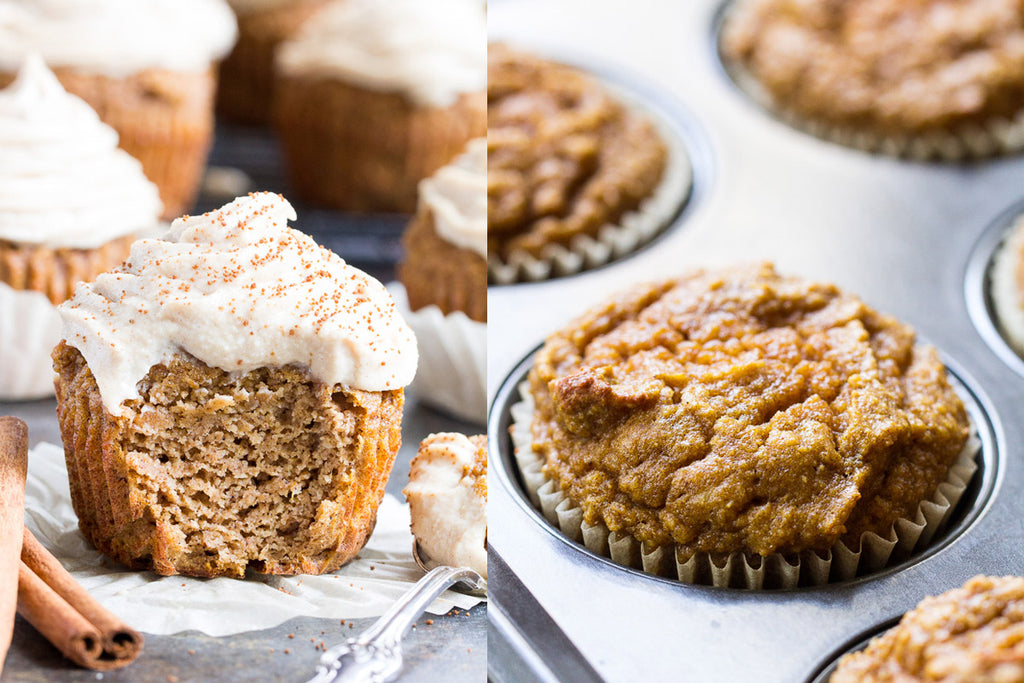 Paleo Pumpkin Cupcakes with Maple Cashew Frosting {Dairy-Free}