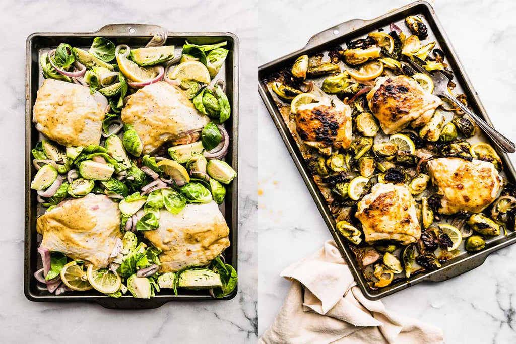Honey Mustard Chicken with Brussels Sprouts