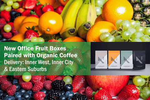 Boost Organic Office Fruit Box + Numero Uno Organic Coffee (Large) **PRE-ORDER REQUIRES 1 DAYS NOTICE**