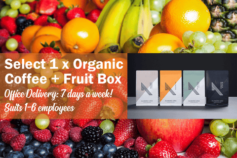 Boost Organic Office Fruit Box + Numero Uno Organic Coffee (Regular) **PRE-ORDER REQUIRES 1 DAYS NOTICE**