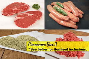 Carnivore Box 3 (Certified Organic, Grass-Fed, Grass Finished, FR, GF) **PRE-ORDER - REQUIRES 1 BUSINESS DAYS NOTICE**