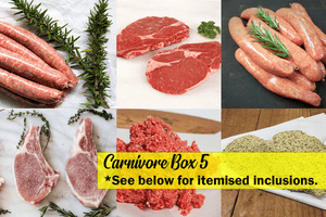 Carnivore Box 5 (Certified Organic, Grass-Fed, Grass Finished, FR, GF) **PRE-ORDER - REQUIRES 1 BUSINESS DAYS NOTICE**