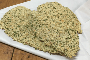 Chicken Schnitzel Herb Coconut Crumb (GF, Free Range) 2 Large Pieces, 500g **PRE-ORDER REQUIRES 1 BUSINESS DAYS NOTICE**