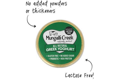 Natural Greek Yoghurt 375g (Probiotic) Mungalli Creek Biodynamic Farm **REQUIRES 1 BUSINESS DAYS NOTICE**