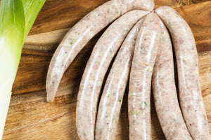 Pork & Stir Fry Vegetable Sausages (PRESERVATIVE-FREE, GF, Free Range) 5pcs - 550g **PRE-ORDER REQUIRES 1 BUSINESS DAYS NOTICE**