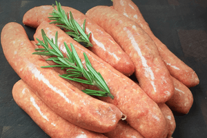 Beef & Lamb Sausages (Free Range, GF, Grass-Fed, Grass-Finished) 5pcs - 550g **PRE-ORDER REQUIRES 1 BUSINESS DAYS NOTICE**