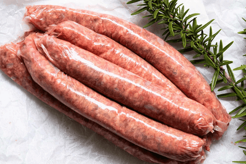 Beef Sausages (Free Range, GF, Grass-Fed, Grass Finished) 5pcs - 550g **PRE-ORDER REQUIRES 1 BUSINESS DAYS NOTICE**
