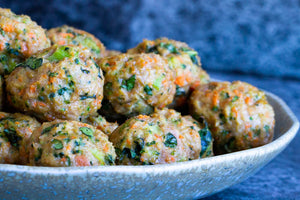 Chicken and Vegetable Meatballs (Free Range, GF) 450g **PRE-ORDER REQUIRES 1 BUSINESS DAYS NOTICE**