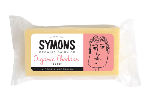 Cheddar Cheese 200g (Organic) Symons Organic Dairy **REQUIRES 1 BUSINESS DAYS NOTICE**