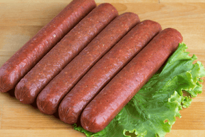 Spicy Spanish Style Beef Sausages (Certified Organic, PRESERVATIVE-FREE, GF) 5pcs - 550g **PRE-ORDER REQUIRES 1 BUSINESS DAYS NOTICE**