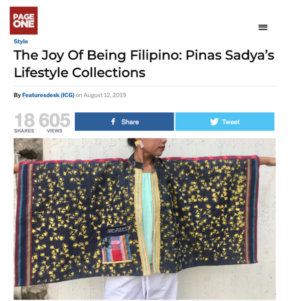 The Joy of Being Filipino: Pinas Sadya featured by PageOne