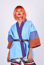 Load image into Gallery viewer, Kimono Wrap Blue in Negros Sleeves