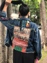 Load image into Gallery viewer, Hand Painted Denim Jacket with Woven Back Patches