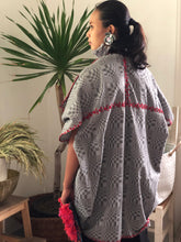 Load image into Gallery viewer, Grey Binakol Poncho with  Red Accents