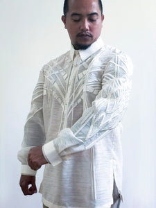 Men's Hand-Embroidered Barong by Berches (Pre Order)