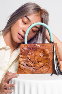 Busilak Woodcarved Handbag