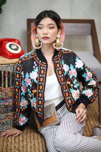 Hand Embroidered Lumban Bomber Jacket