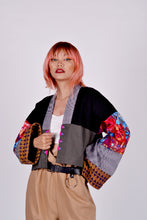 Load image into Gallery viewer, Oday's Ika-tulo Crop Kimono in Blue Beads