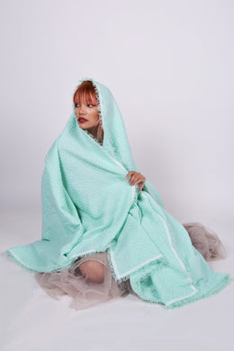 LAST 2 PIECES! Mint Green Queen Size Inabel Blanket
