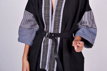 Load image into Gallery viewer, Kimono Wrap Black in Binakol & Negros Sleeves