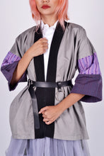 Load image into Gallery viewer, Kimono Wrap Grey with Ifugao Purple