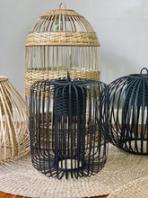 Load image into Gallery viewer, Sunday Rattan Drop Lamp in Black
