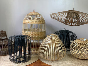 Big Belle Rattan Drop Lamp