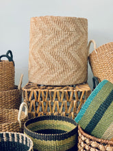Load image into Gallery viewer, Chevron Tan Hamper or Planter Basket