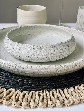 Stoneware Soup Bowl in Black and White