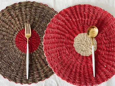 Red Abaca  Placemat 15