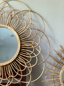 Mother Lily Rattan Mirror