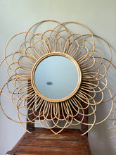 Load image into Gallery viewer, Mother Lily Rattan Mirror