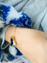 Load image into Gallery viewer, Triad Gold Blue Bracelet