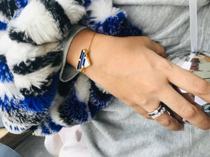 Triad Gold Blue Bracelet