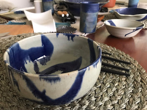 Marble Glazed Blue Bowl